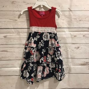 Pinky Red White and Blue Fourth of July Dress 5